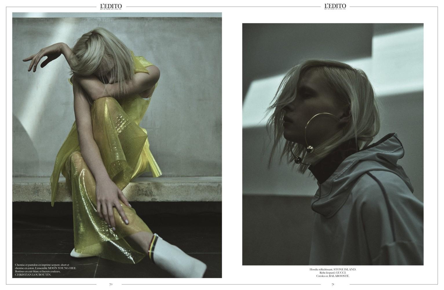 Alyona Subbotina for L'EDITO Magazine Paris