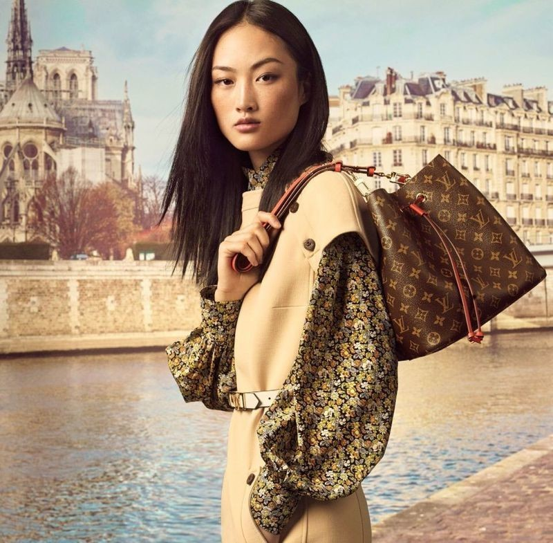 Jing Wen for Louis Vuitton Monogram Giant Fall 2019