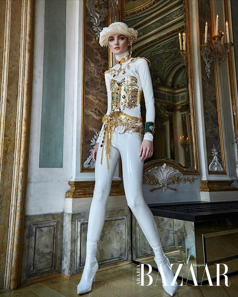 Nastya Abramova for Harper's Bazaar Arabia