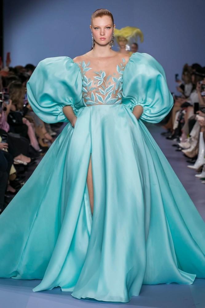 Anastasia Ivanova for Georges Hobeika Haute Couture Spring 2020 PFW