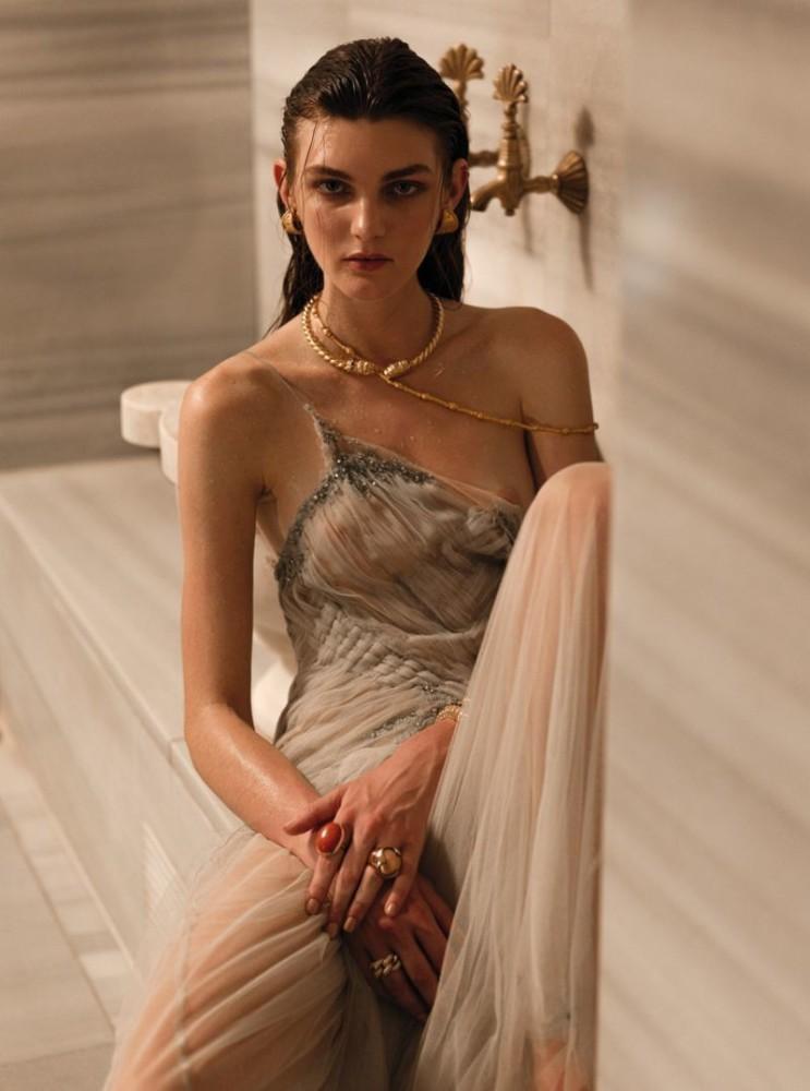 Nastya Abramova for Vogue Greece