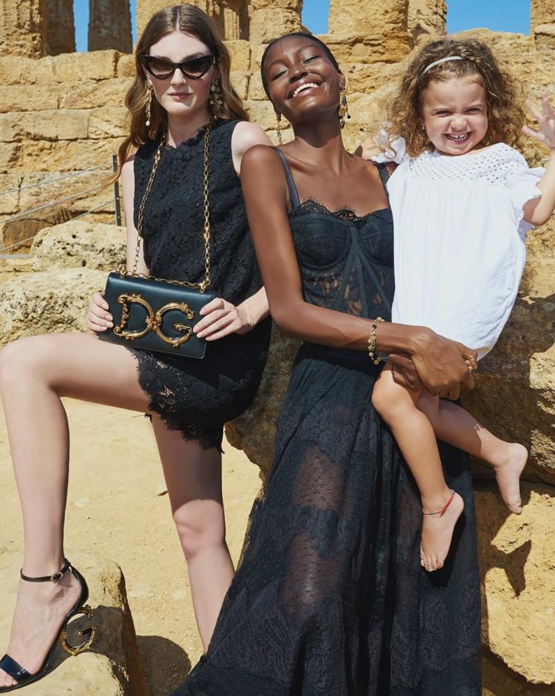 Nastya Abramova for Dolce & Gabbana SS20 Campaign