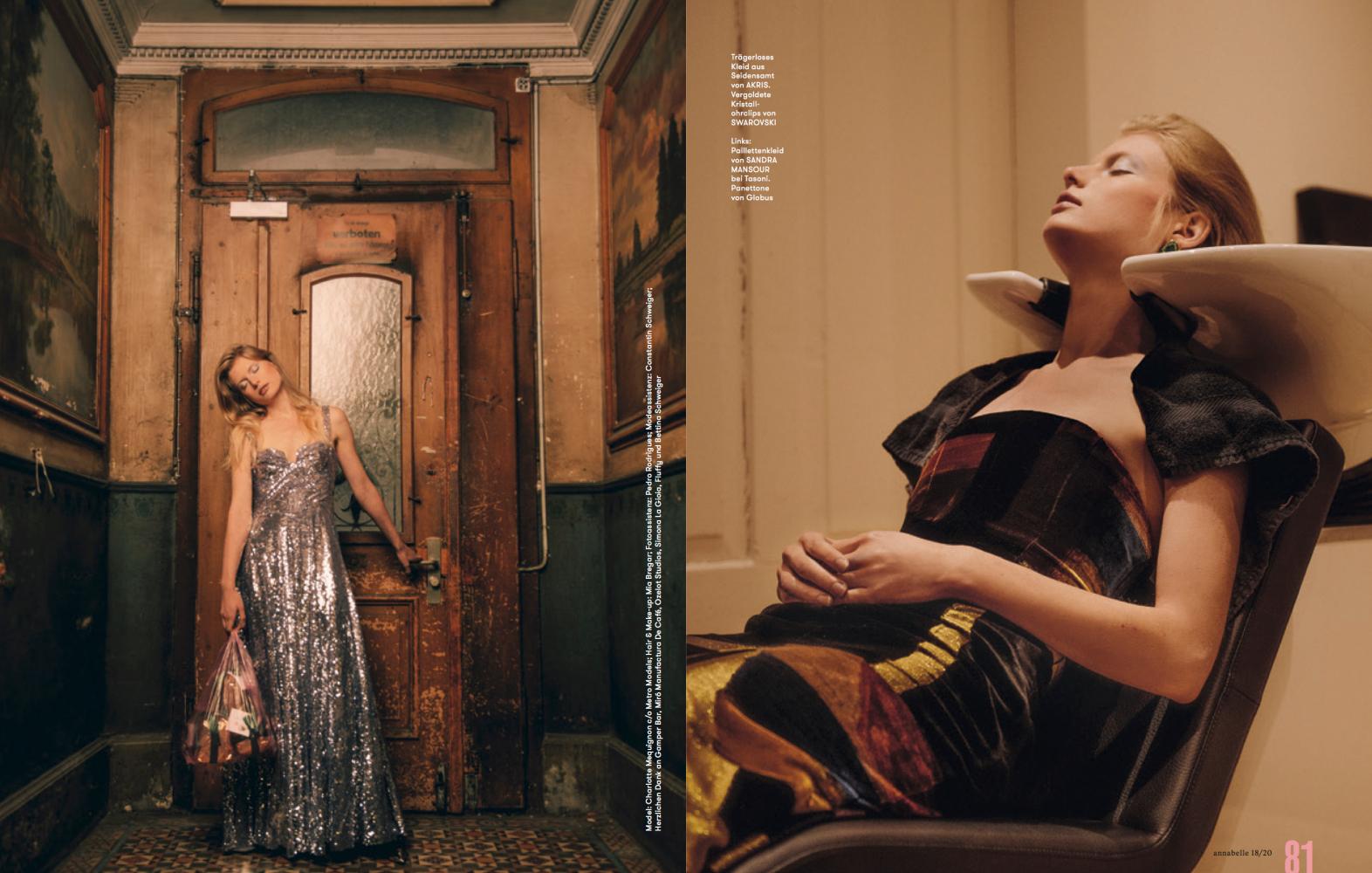 Charlotte Mequignon for Annabelle Magazine, December 2020