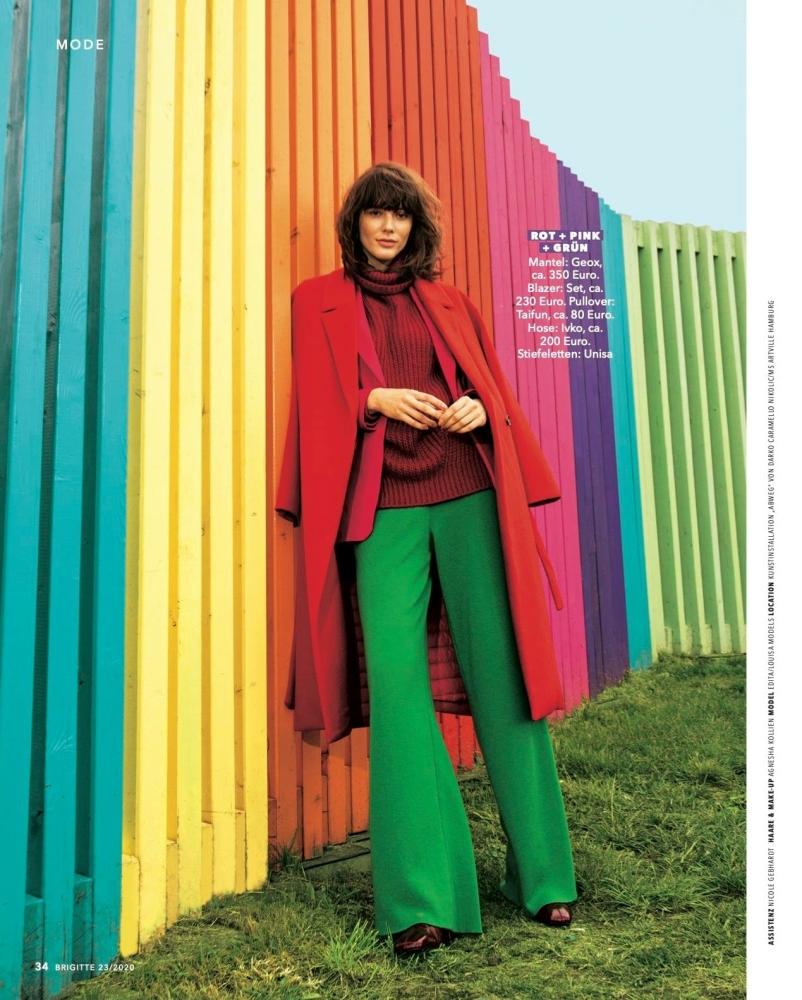 Edita Strzeszewska for Brigitte Magazine