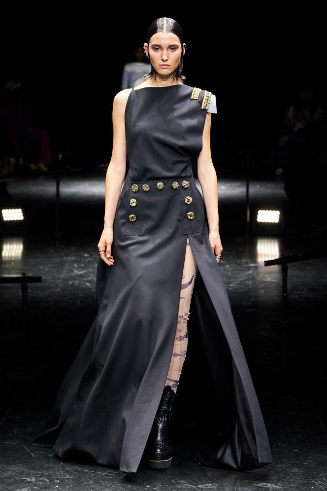 Rachelle Harris for Jean Paul Gaultier X Sacai Haute Couture Fall 2021