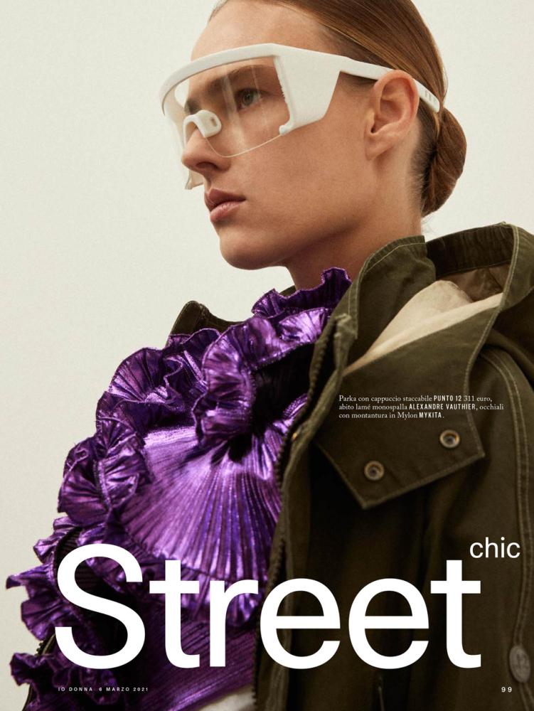 Ania Kisiel for iO Donna Magazine Italy by  Andrea Gandini