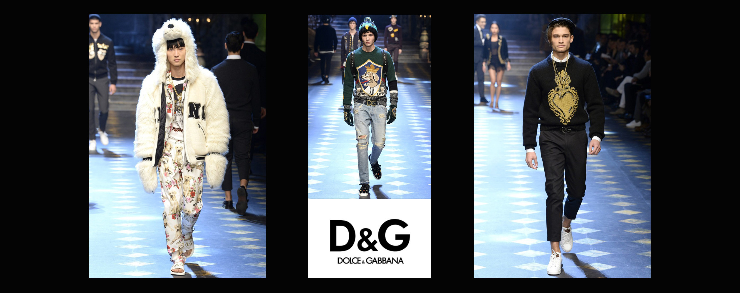 Michael Gioia, Tristan Wage & Jeon June for Dolce & Gabbana FW2017