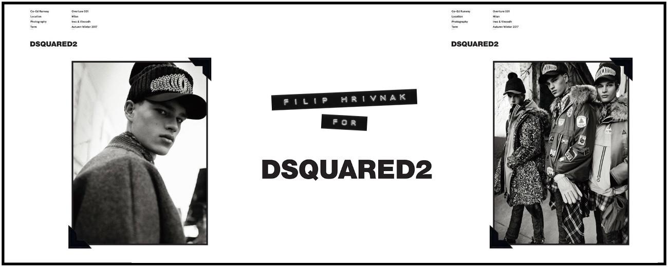 Filip Hrivnak for DSQUARED2 FW17