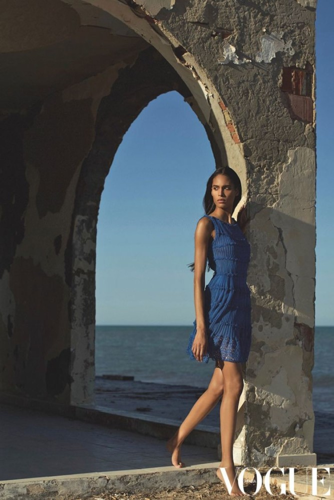 CINDY BRUNA IN VOGUE ARABIA'S TRIBUTE TO AZZEDINE ALAIA
