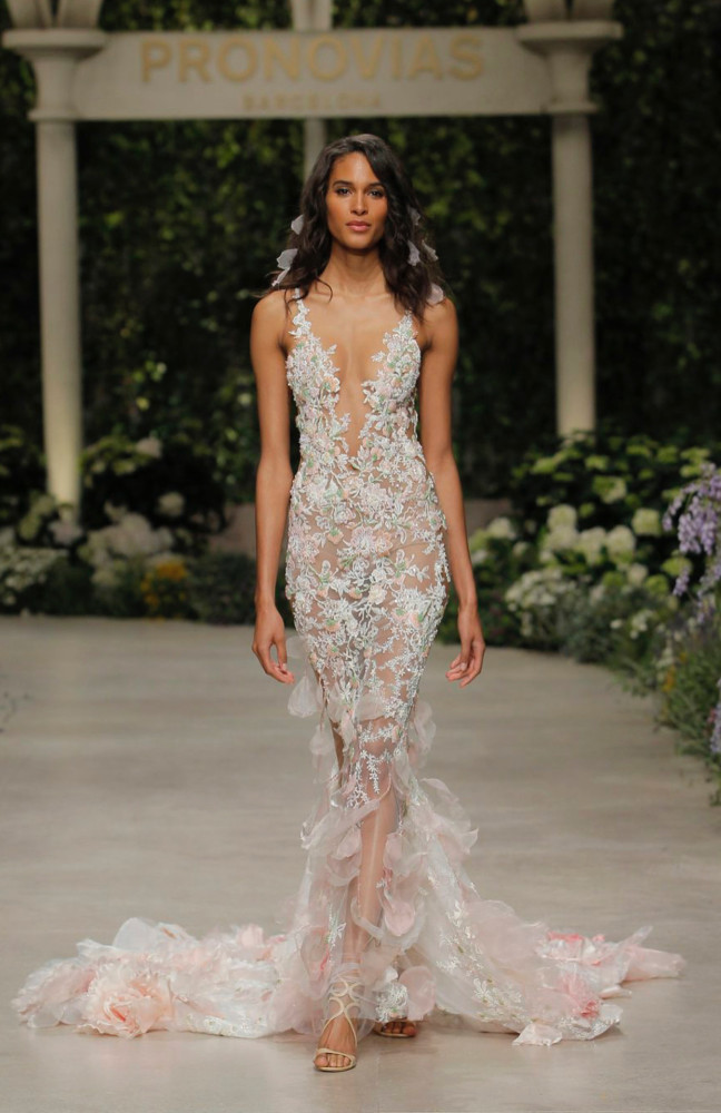 CINDY BRUNA FOR PRONOVIAS FASHION SHOW IN BARCELONA