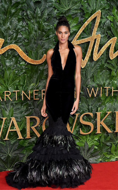 CINDY BRUNA AT THE BRITISH FASHION AWARDS 2018