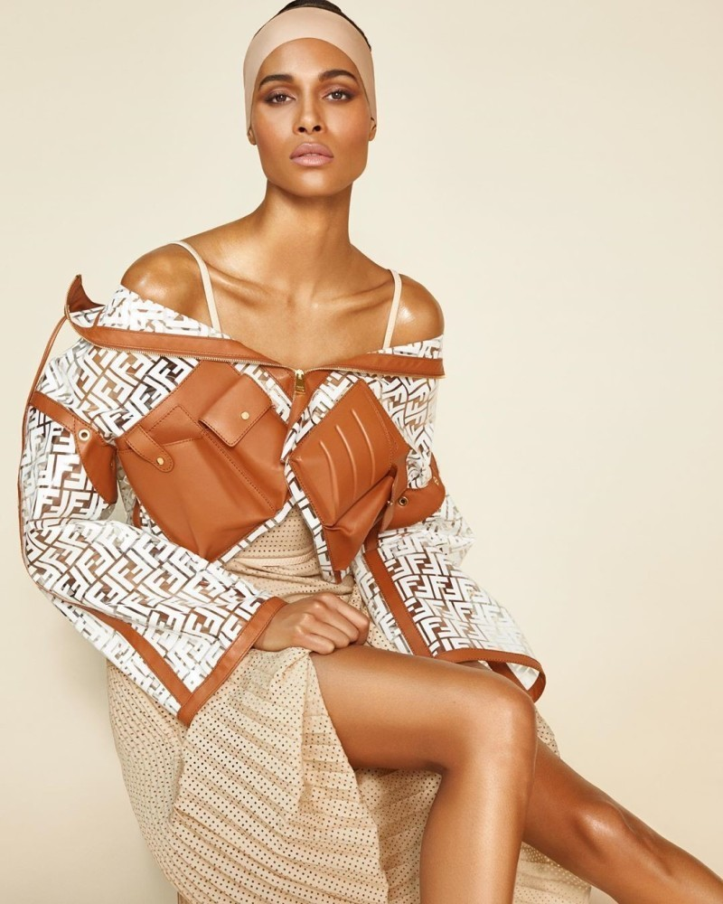 CINDY BRUNA WEARING FENDI COVERS THE LATEST ISSUE OF WONDERLAND MAGAZINE