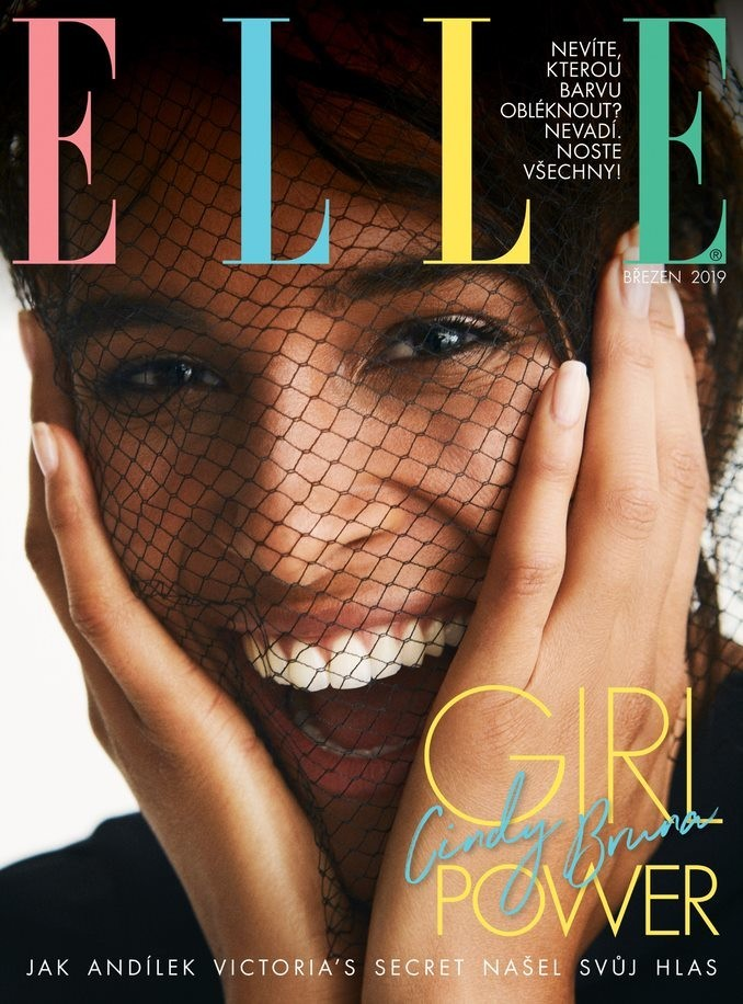 CINDY BRUNA COVERS ELLE CZECH MARCH 2019 ISSUE