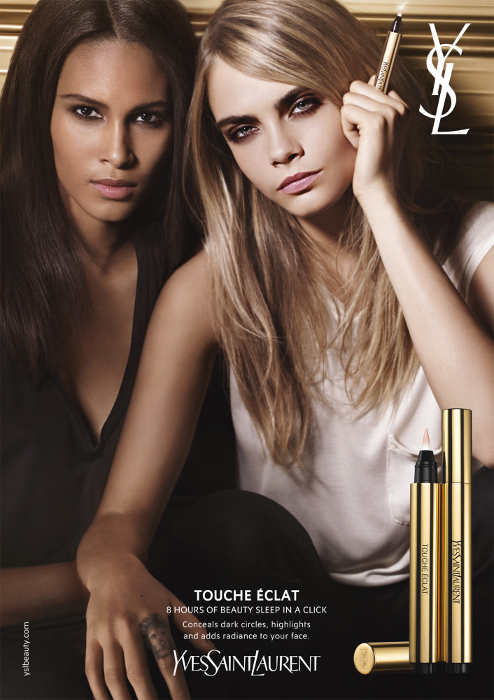 Cindy Bruna, features the Campaign of Yves Saint Laurent.
