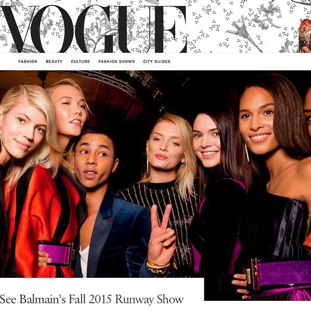SPOTTED: Cindy Bruna on Vogue magazine's site with Olivier Rousteing at Balmain