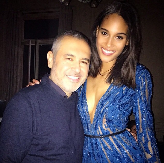 Cindy Bruna with Elie Saab at after show party