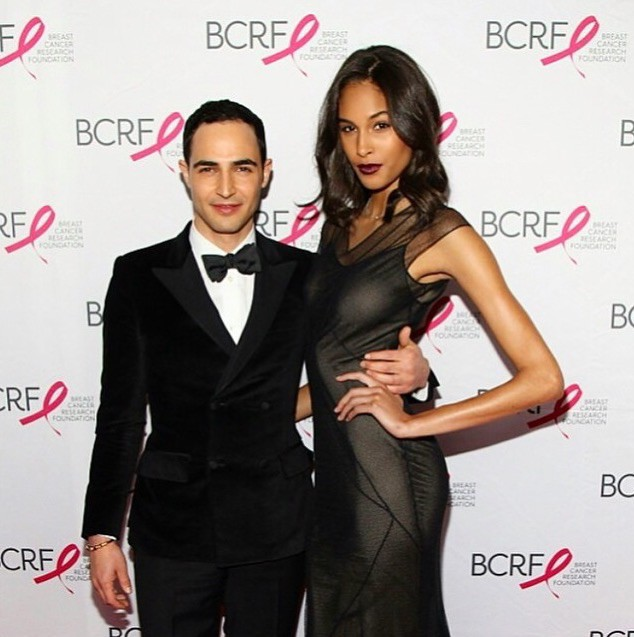 Cindy Bruna and Zac Posen supporting Breast Cancer Research