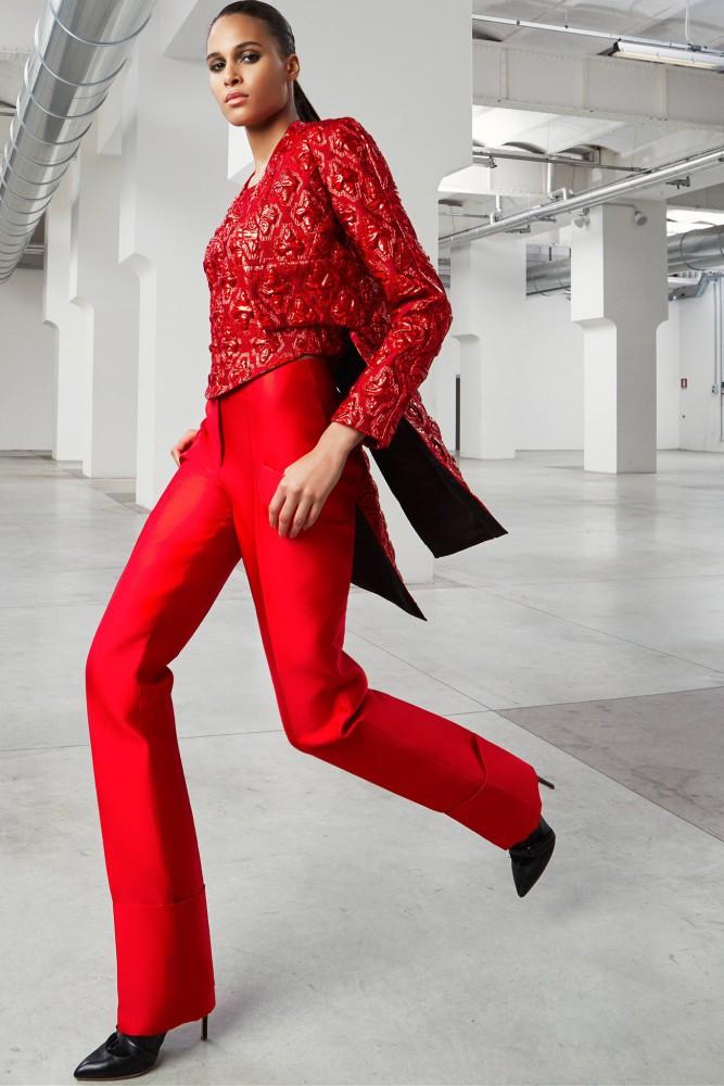 Cindy Bruna for Antonio Berardi Pre-Fall 2015 collection