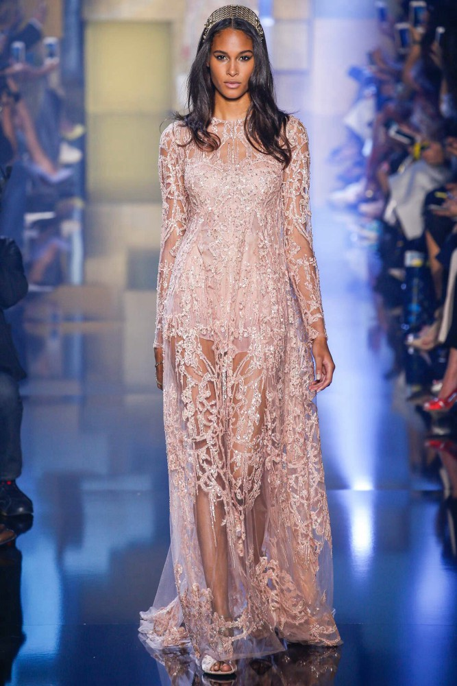 Cindy Bruna for Elie Saab Haute Couture Fall-Winter 15/16