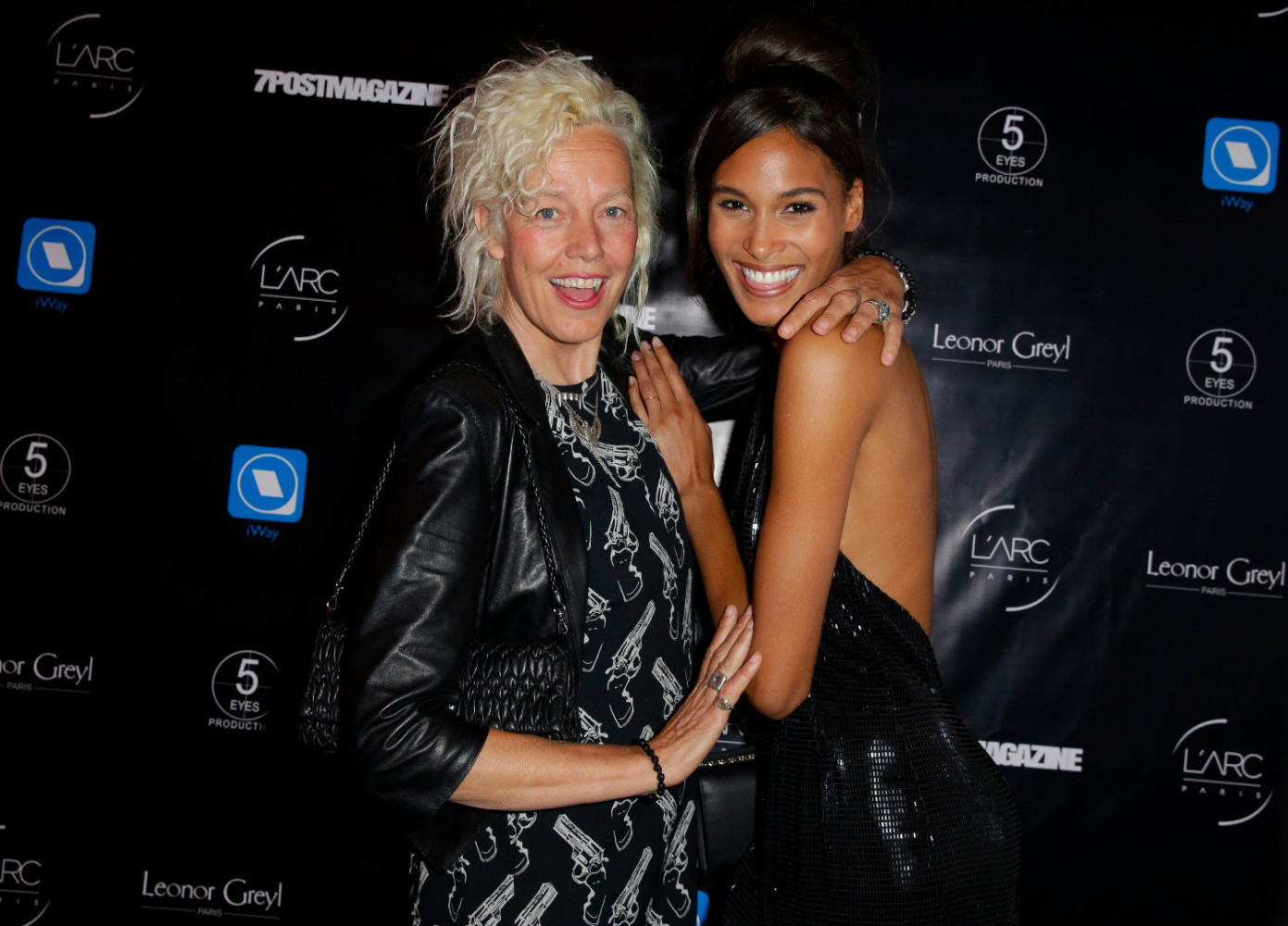 Cindy Bruna and Isis Bataglia @ 7post magazine party