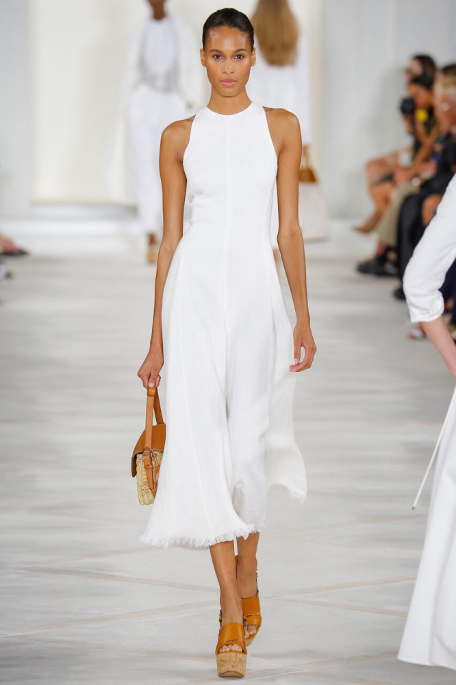 Cindy Bruna for Ralph Lauren NYFW SS16