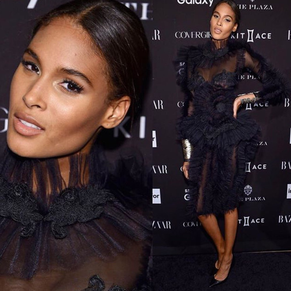 Cindy Bruna attending Harper's Bazaar Icons Party during NYFW