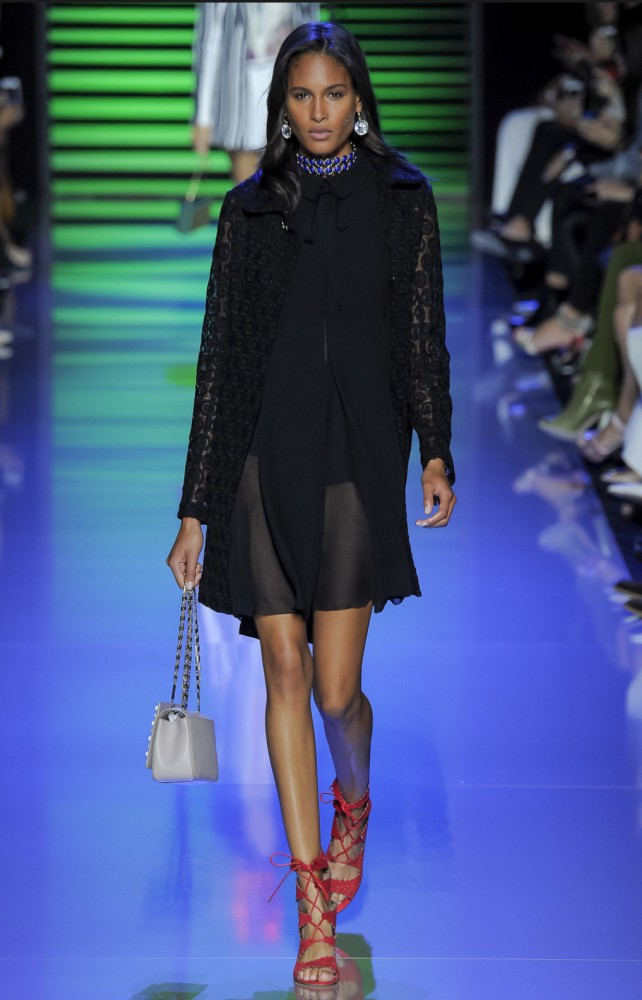 Cindy Bruna for Elie Saab PFW SS16