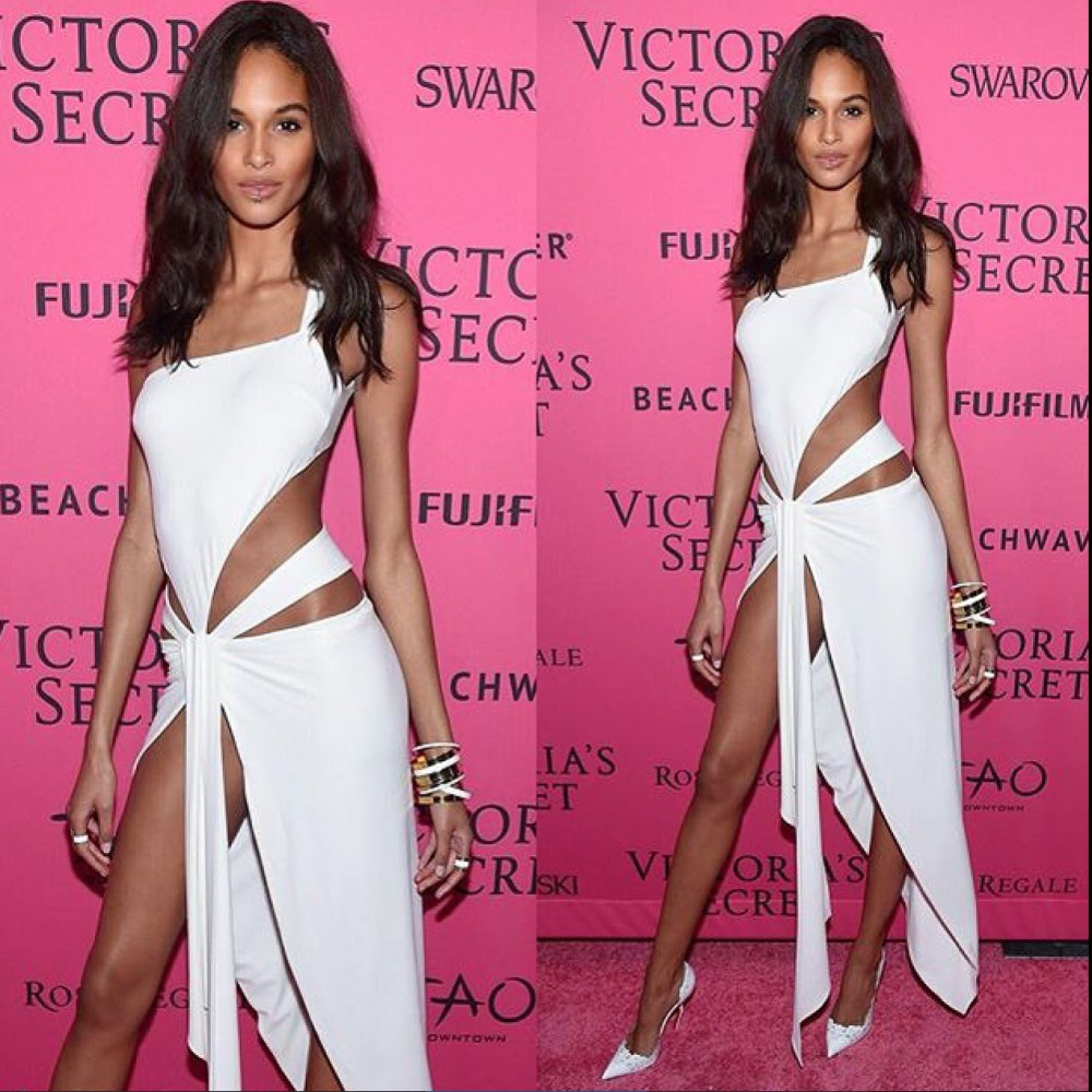Cindy Bruna at Victoria's Secret after party dressed by Alexandre Vauthier