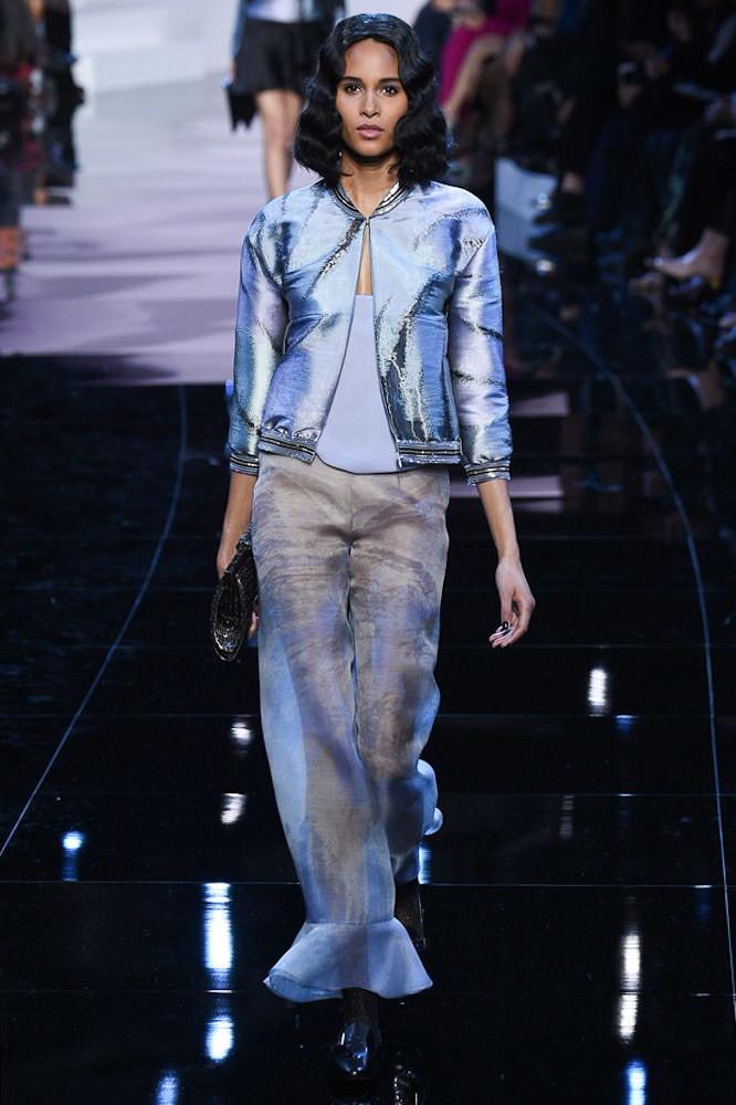 Cindy for Armani Privé Haute Couture Spring 2016 Show