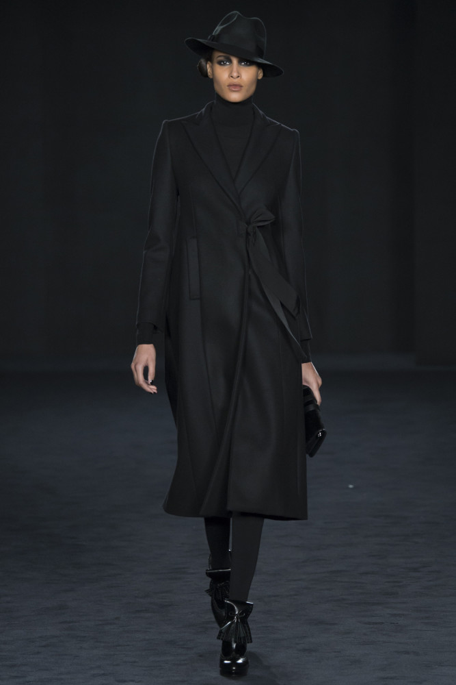 Cindy Bruna for Daks London (show opener) LFW FW2016