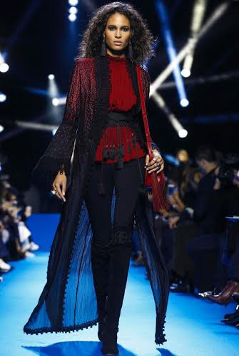 Cindy Bruna for Elie Saab FW2016 PFW