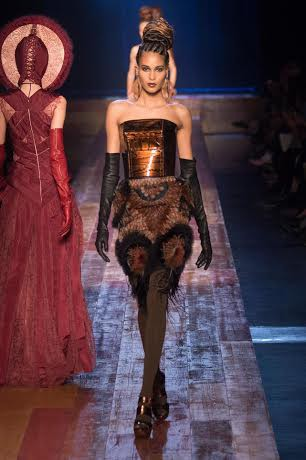 Cindy Bruna for Jean-Paul Gaultier #CoutureFall2016