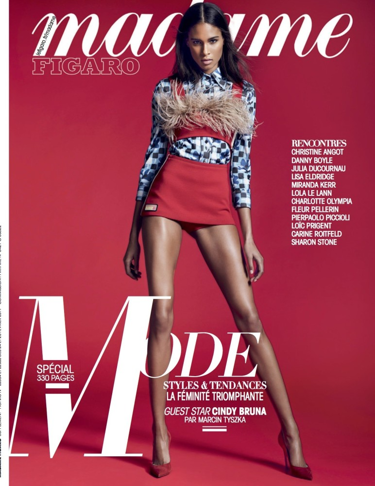 Top Model Cindy Bruna for Madame Figaro