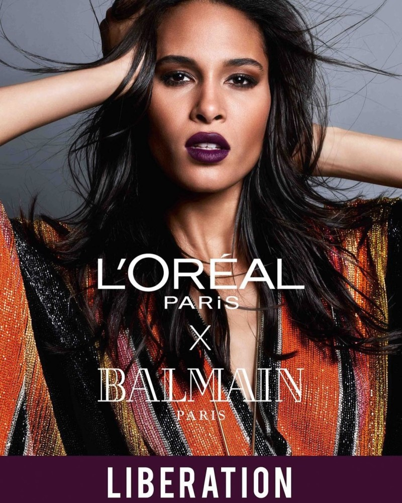 CINDY BRUNA FOR BALMAIN x L'ORÉAL LIPSTICK COLLECTION CAMPAIGN