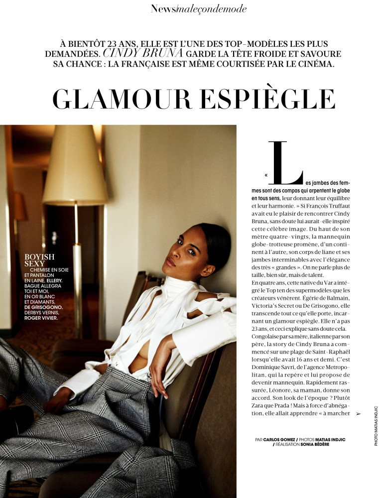 CINDY BRUNA FOR MADAME FIGARO SEPTEMBER 2017 ISSUE