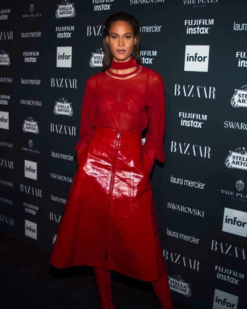 CINDY BRUNA AT THE BAZAAR ICONS PARTY