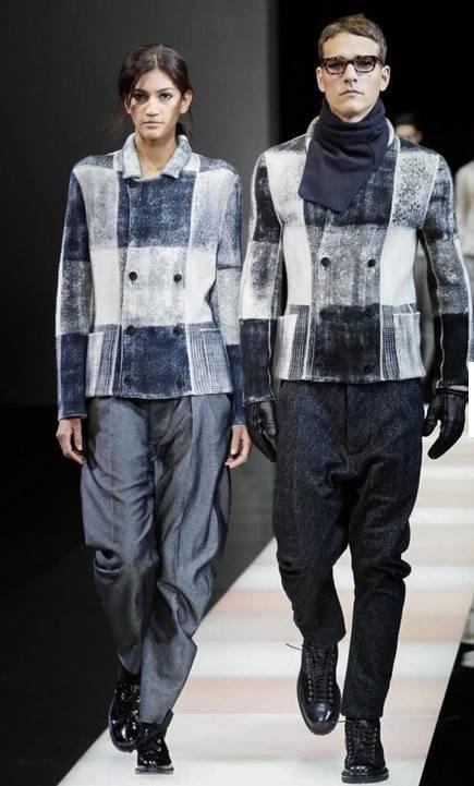 Hadassa Lima Giorgio Armani MFW Fall 2015 Menswear