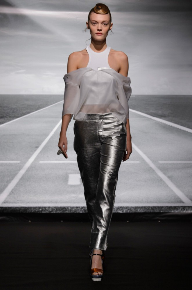 Marina S for Bernard Chandran PFW SS16