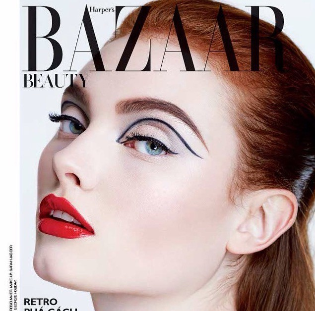 Georgie H for Harper's Bazaar beauty