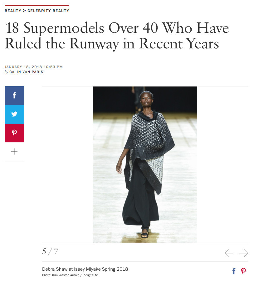 DEBRA SHAW ON VOGUE ONLINE ABOUT THE RETURN OF SUPERMODELS