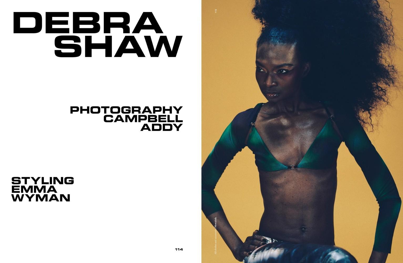 DEBRA SHAW COVERS DAZED MAGAZINE