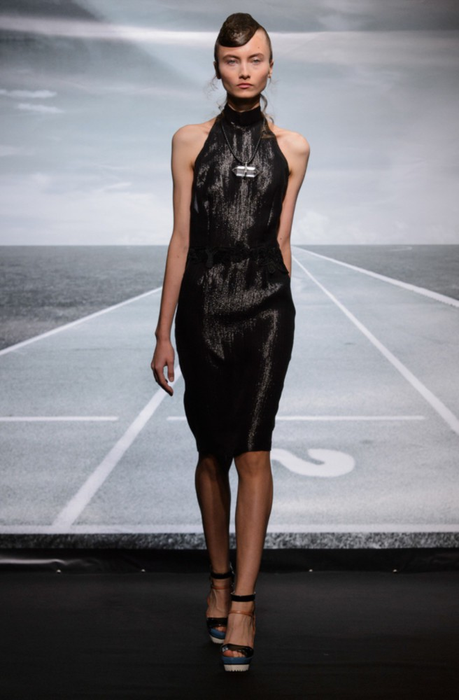 Aneta W for Bernard Chandran PFW SS16