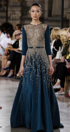 Bibi Sharipova for Georges Hobeika #CoutureFall2016