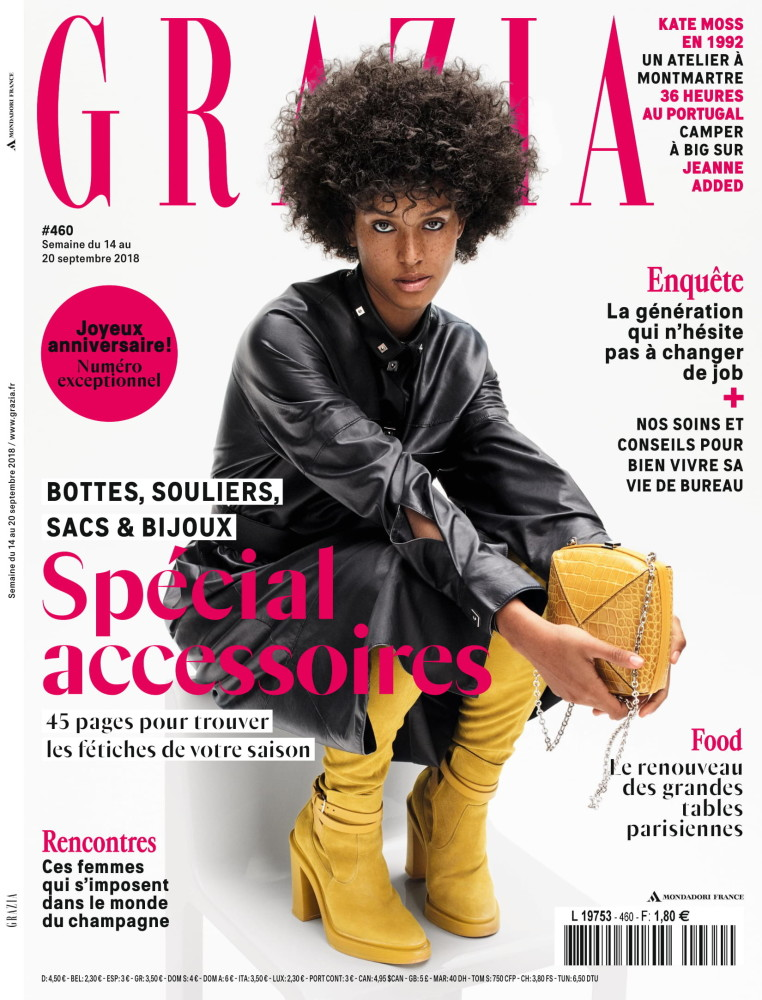 FLORA CARTER COVERS THE LATEST ISSUE OF GRAZIA FRANCE