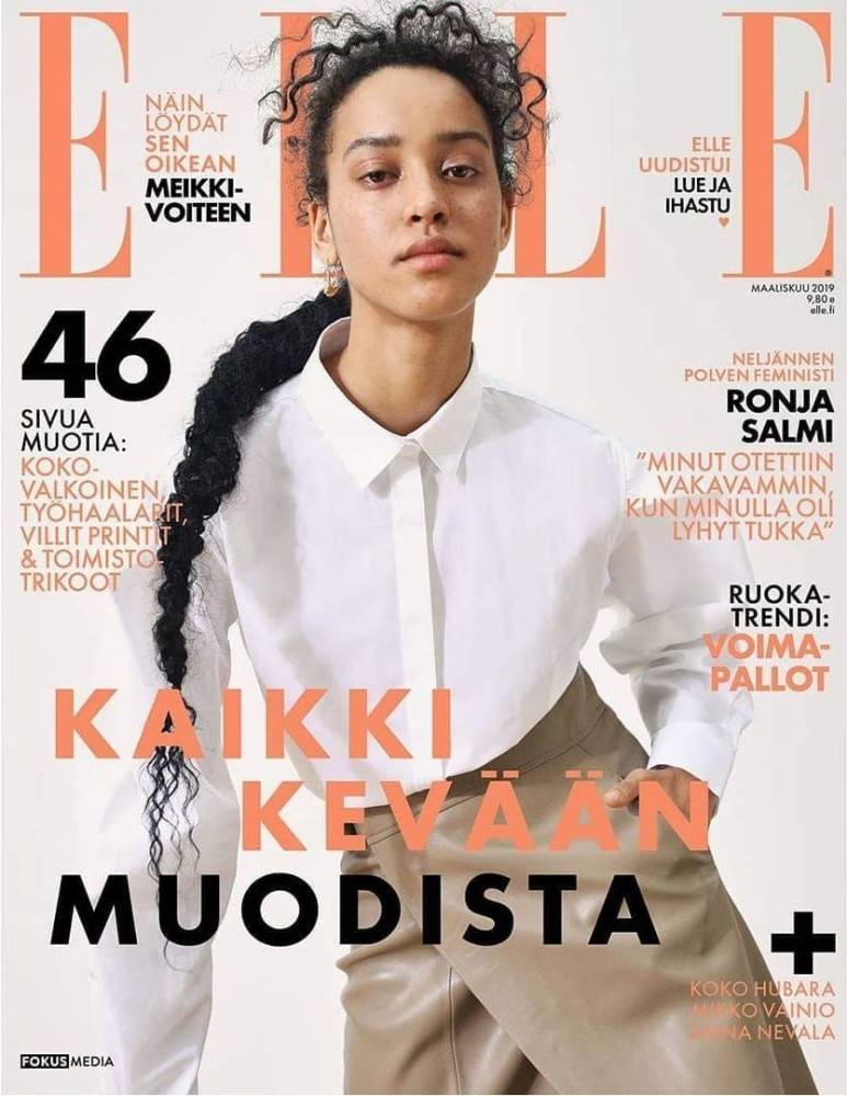 FLORA CARTER COVERS ELLE FINLAND