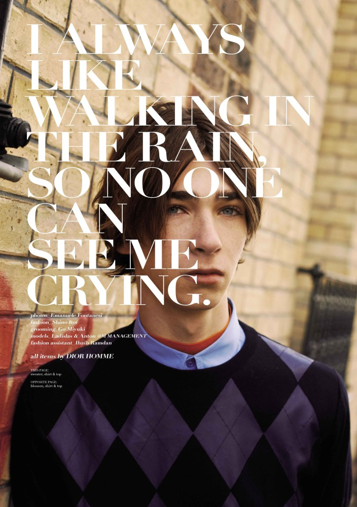 Ladislas for Common&Sense SS2016 issue SPECIAL DIOR HOMME
