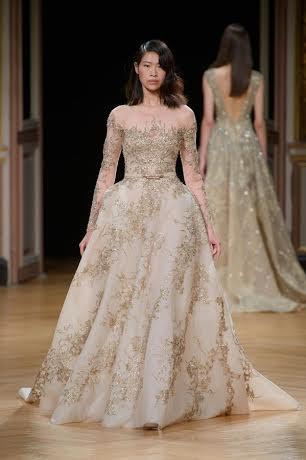 Yijun for Ziad Nakad #CoutureFall2016