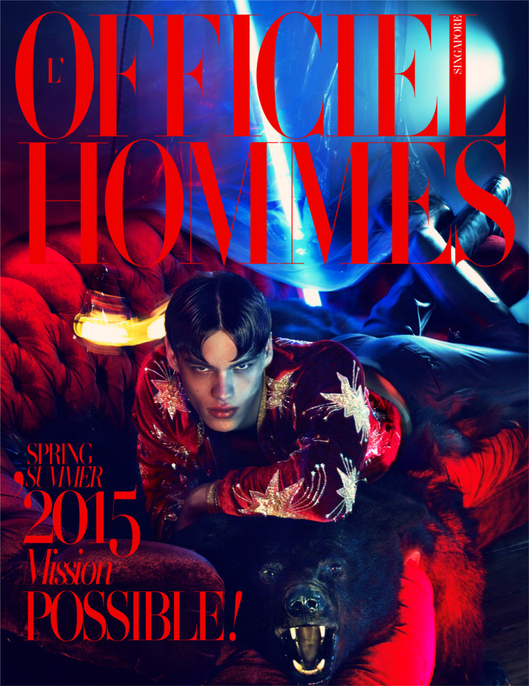 Filip Hrivnak covering L'Officiel Hommes Singapore SS15