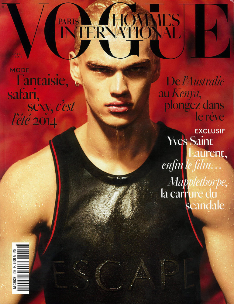 Filip Hrivnak Covering Vogue Hommes International SS14