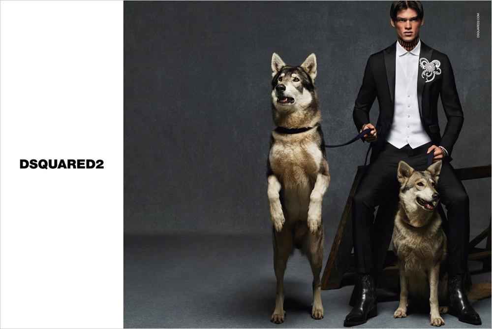 Filip Hrivnak for DSquared2 FW15 Campaign
